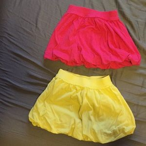 Bubble skirts